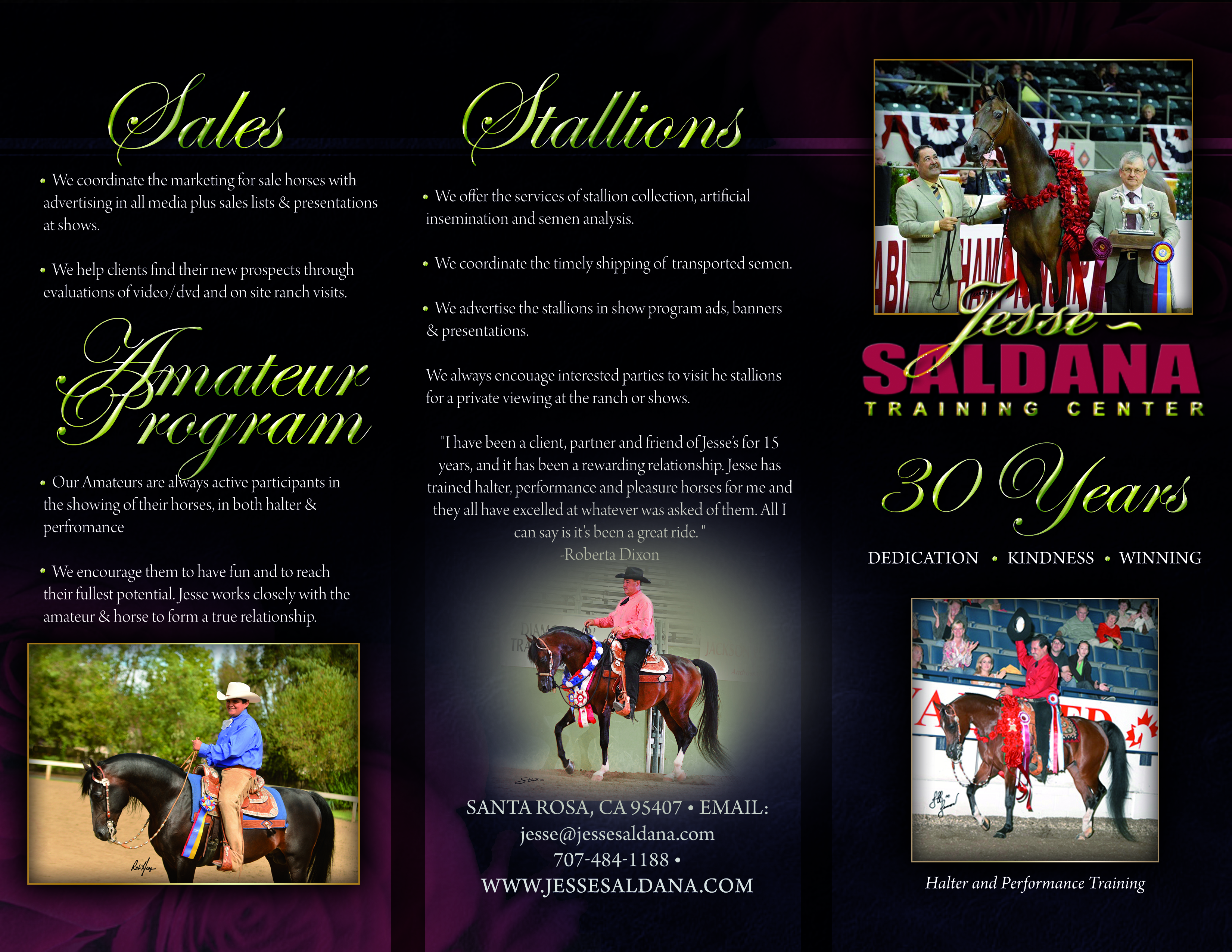 Jesse Saldana Training Center Brochure Link